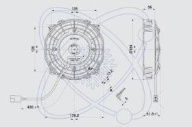 ElectroAuto 32C0009 - ELECTROVENTILADOR(12V)SPAL ESTANDAR