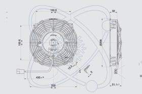 ElectroAuto 32C0030 - ELECTROVENTILADOR(12V)SPAL ESTANDAR