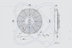ElectroAuto 32D0002 - ELECTROVENTILADOR(12V)SPAL ESTANDAR