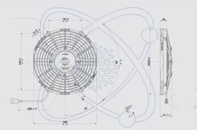 ElectroAuto 32D0003 - ELECTROVENTILADOR(12V)SPAL ESTANDAR