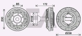 ElectroAuto 35C16D14 - DISCO EMBRAGUE VENTILADOR->APLICACI