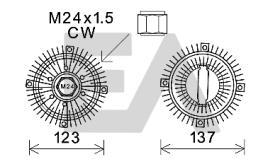 ElectroAuto 35C22D02 - EMBRAGUE VISCOSO->VENTILADOR FORD