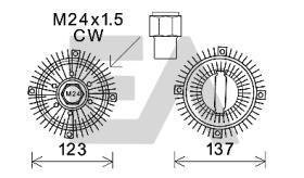 ElectroAuto 35C22D03 - EMBRAGUE VISCOSO->VENTILADOR FORD